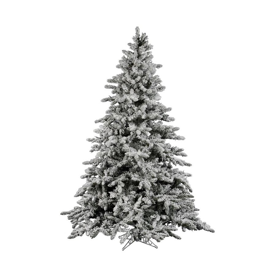 Vickerman 10-ft Utica Fir Flocked White Artificial Christmas Tree