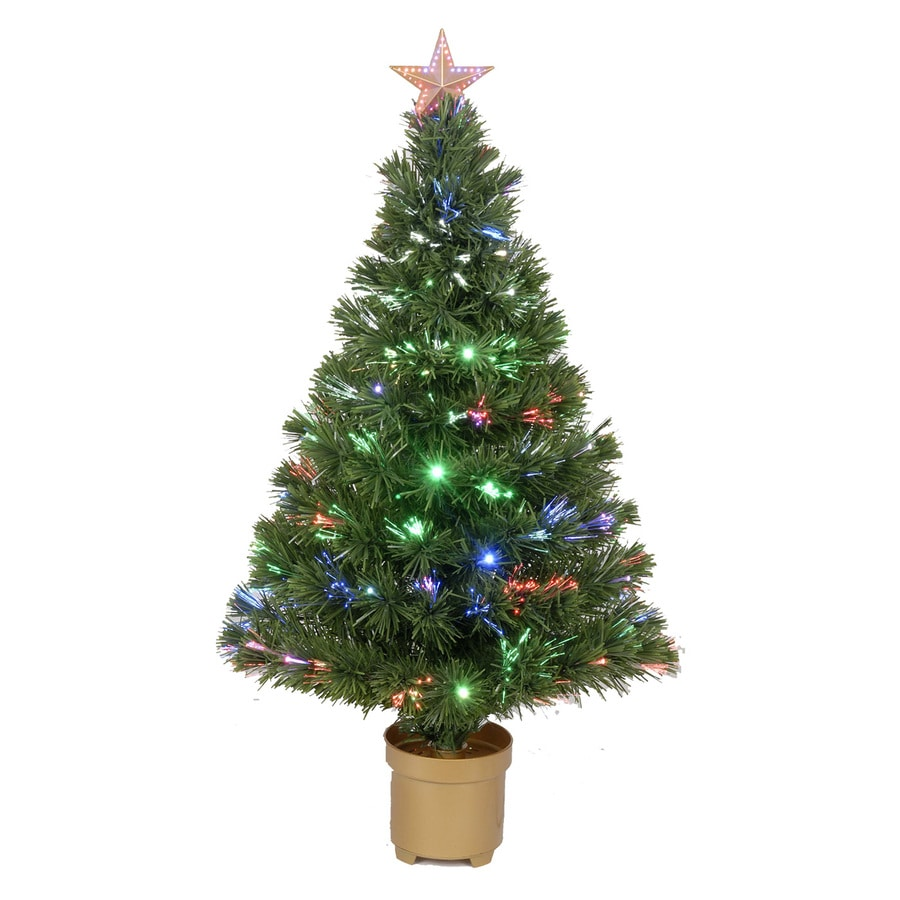 Merske Jolly Workshop 3-ft Pre-Lit Artificial Christmas Tree with Multicolor LED Lights
