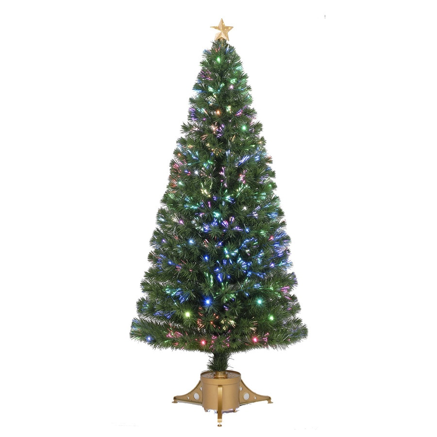 Merske Jolly Workshop 6-ft Pre-lit Artificial Christmas Tree with 65 Twinkling Multicolor LED Lights
