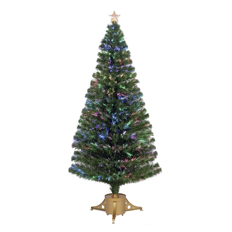Merske Jolly Workshop 6-ft Pre-Lit Artificial Christmas Tree with Multicolor LED Lights