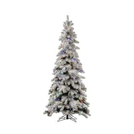 befe918ae3b Vickerman 4-ft Pre-lit Kodiak Spruce Slim Flocked Artificial Christmas Tree  with 175