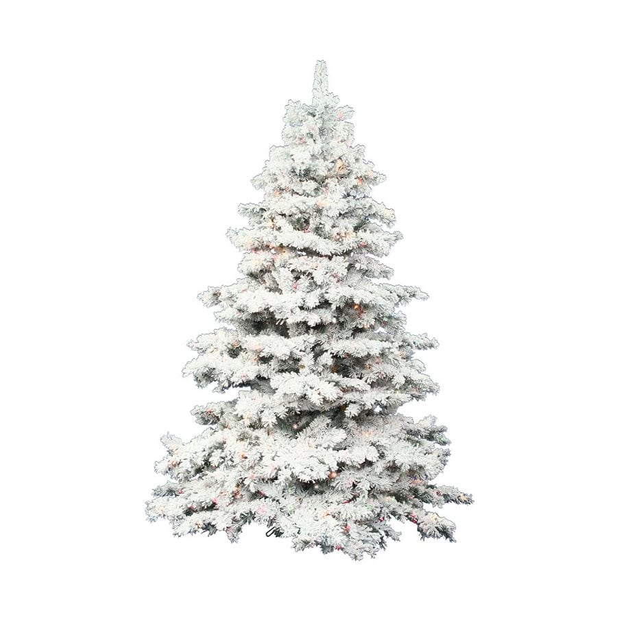 Shop Vickerman 3 Ft Pre Lit Alaskan Pine Flocked Artificial  - Vickerman Pre Lit Christmas Trees