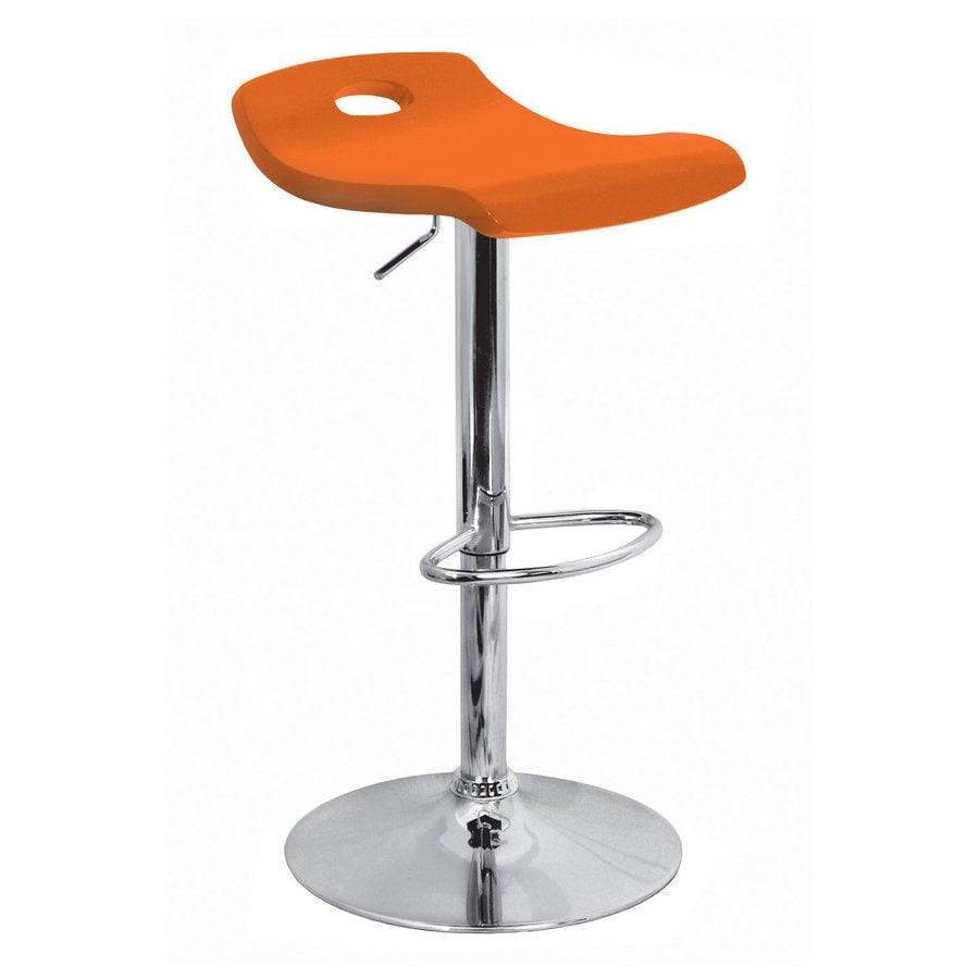 Lumisource Orange 32-in Adjustable Stool