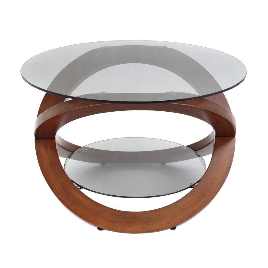 Lumisource Linx Walnut Round Coffee Table
