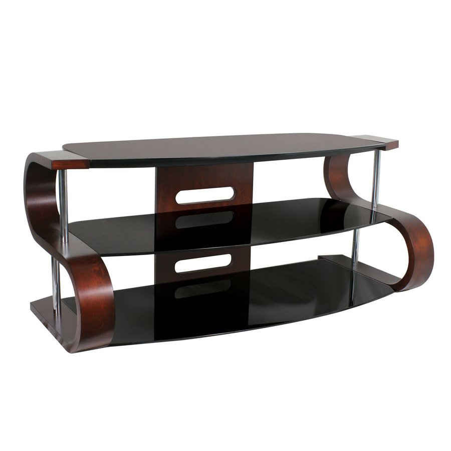 Lumisource Metro Walnut Rectangular Shelf TV Stand