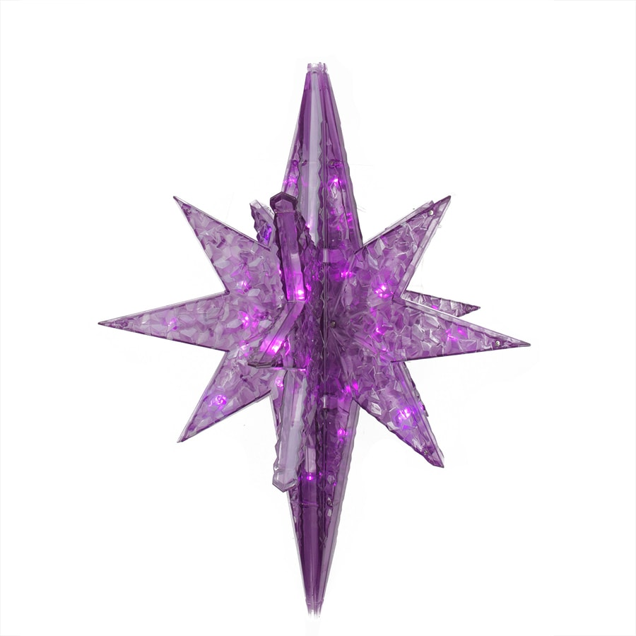 Northlight Penn 1.58-ft Hanging Star with Twinkling Purple LED Lights