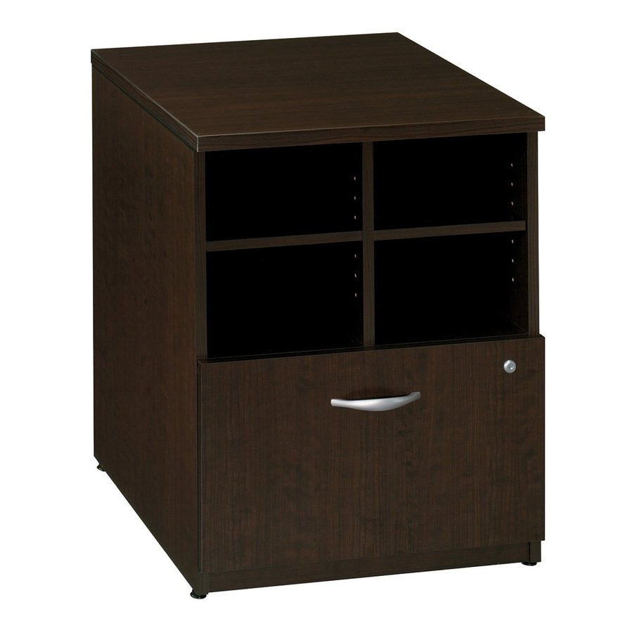 Bush Business Furniture Mocha Cherry 1-Drawer File Cabinet