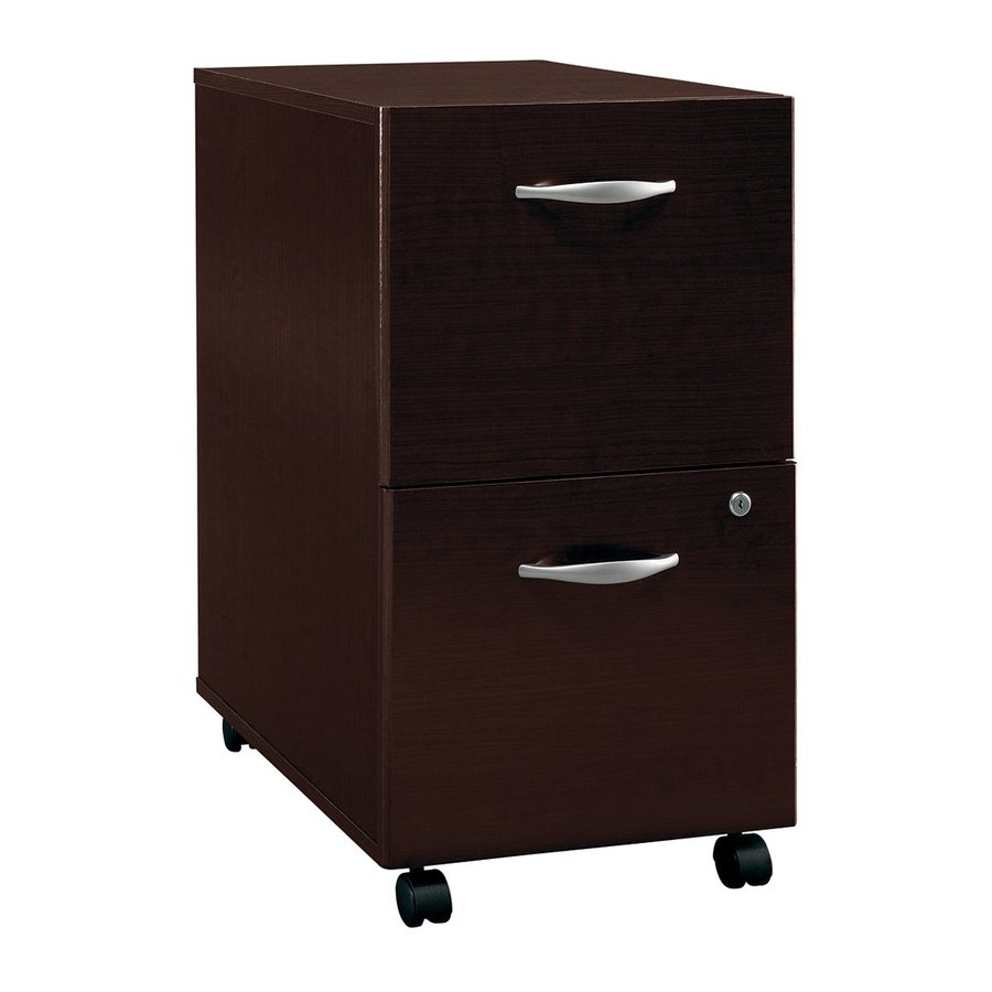 Bush Business Furniture Mocha Cherry 2-Drawer File Cabinet