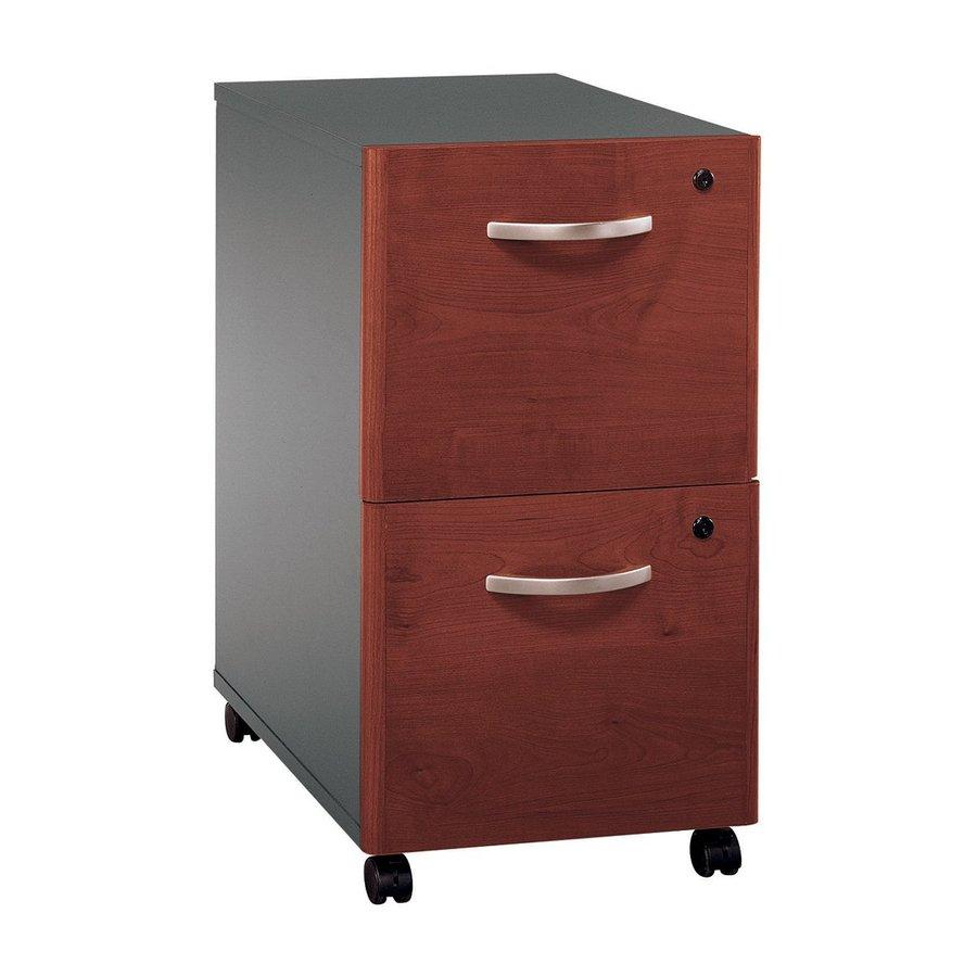 Bush Business Furniture Hansen Cherry/Graphite Gray 2-Drawer File Cabinet