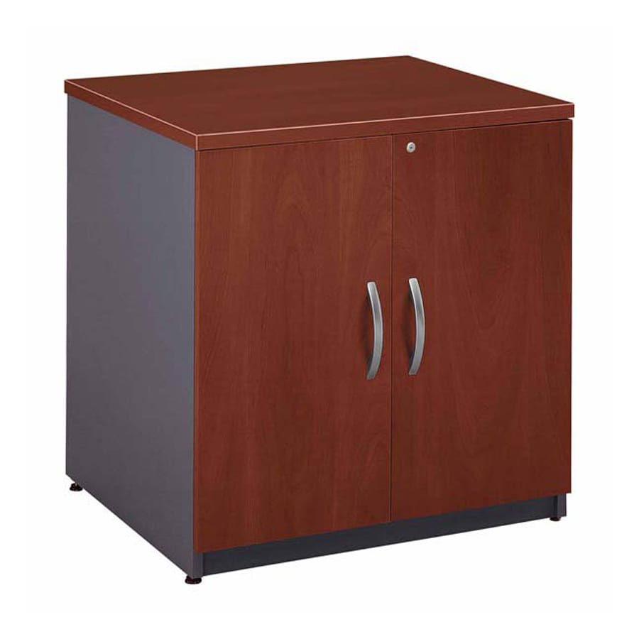 Bush Business Furniture Hansen Cherry/Graphite Gray 1-Shelf Office Cabinet