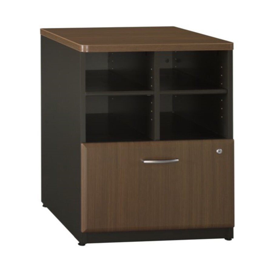 Bush Business Furniture Sienna Walnut/Bronze 1-Drawer File Cabinet