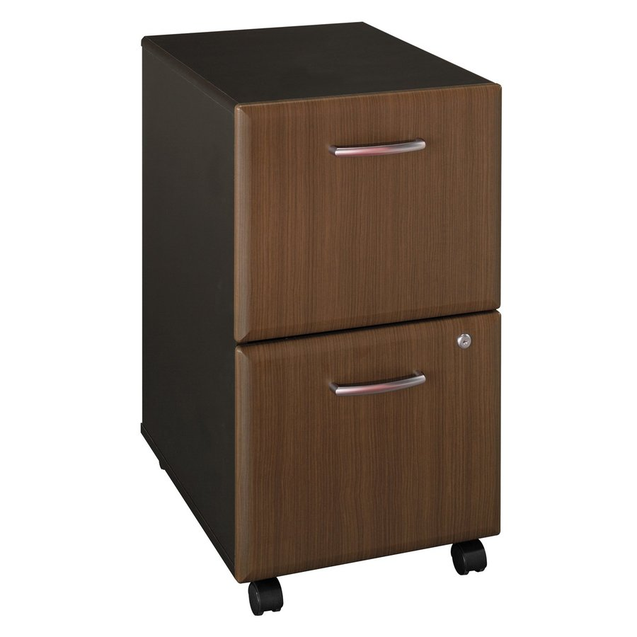 Bush Business Furniture Sienna Walnut/Bronze 2-Drawer File Cabinet