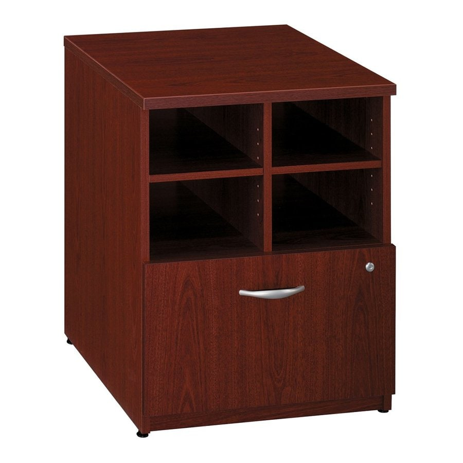Bush Business Furniture Mahogany 1-Drawer File Cabinet