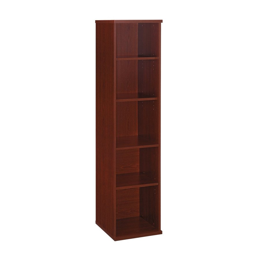 Bush Business Furniture Mahogany 5-Shelf Bookcase