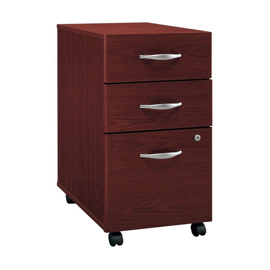 Bush Business Furniture Mahogany 3-Drawer File Cabinet