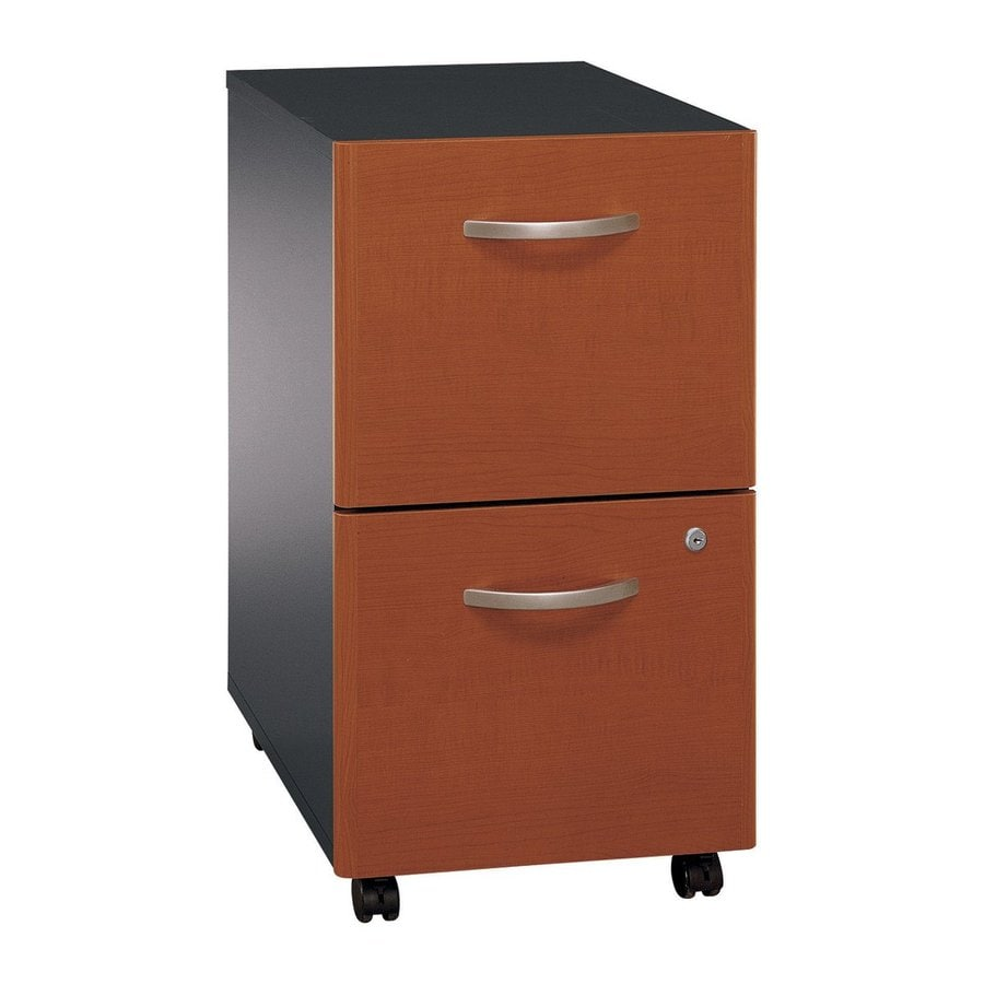 Bush Business Furniture Auburn Maple/Graphite Gray 2-Drawer File Cabinet