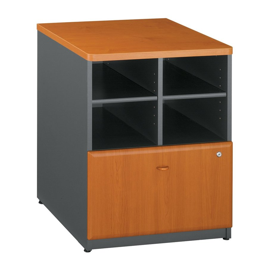 Bush Business Furniture Natural Cherry/Slate 1-Drawer File Cabinet