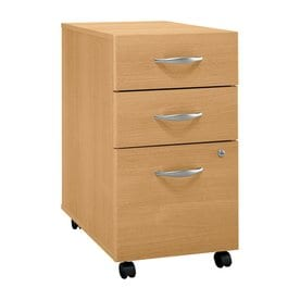 Bush Business Furniture 3-Drawer File Cabinet  sc 1 st  Loweu0027s : 3 drawer filing cabinet wood - Cheerinfomania.Com
