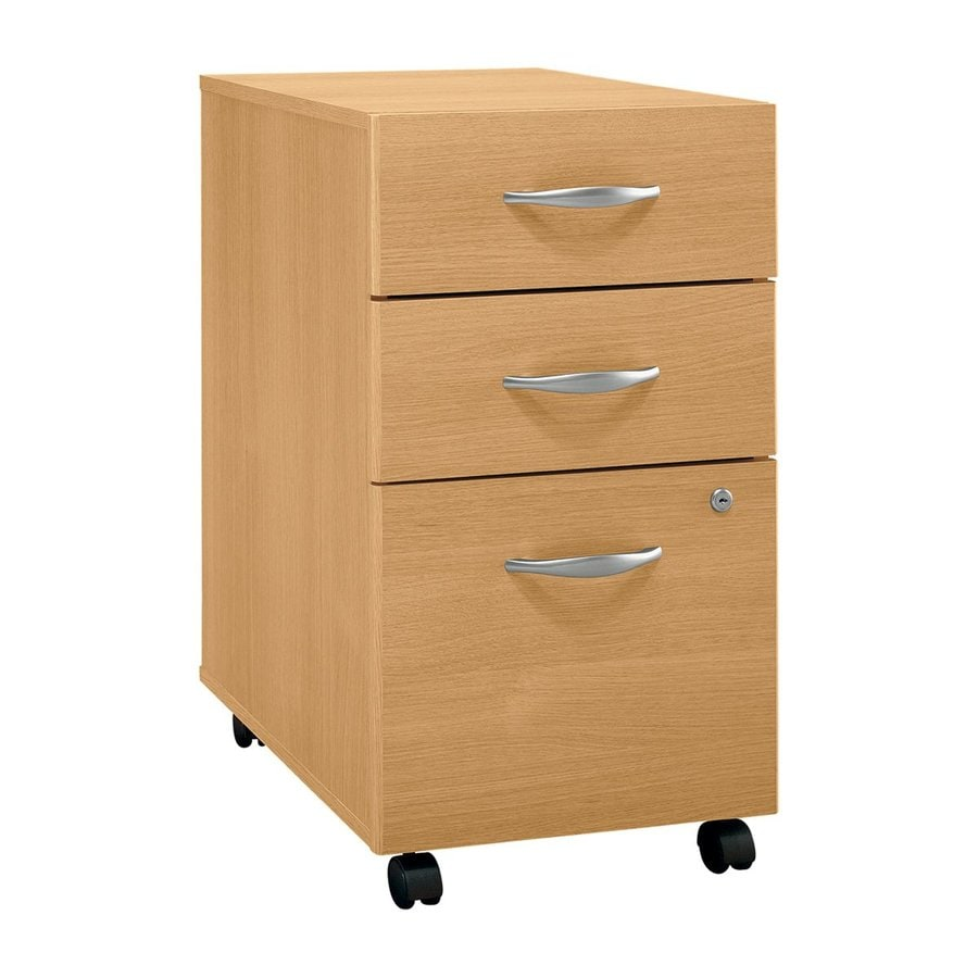 Bush Business Furniture Light Oak 3-Drawer File Cabinet