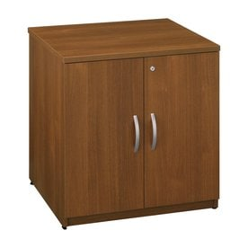 Bush Business Furniture Warm Oak 1 Shelf Office Cabinet