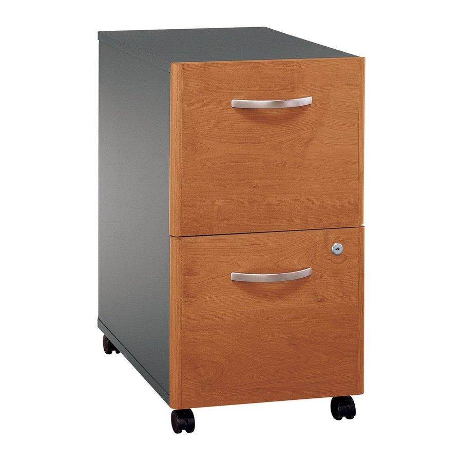 Bush Business Furniture Natural Cherry/Graphite Gray 2-Drawer File Cabinet