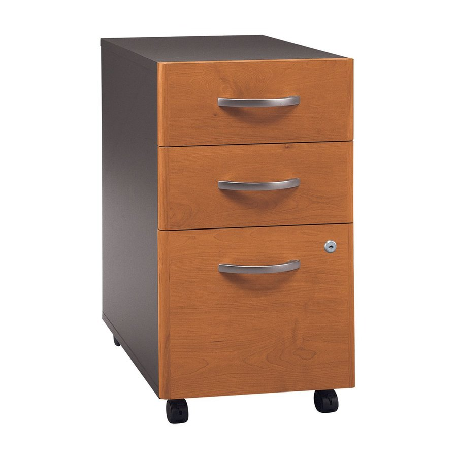 Bush Business Furniture Natural Cherry/Graphite Gray 3-Drawer File Cabinet