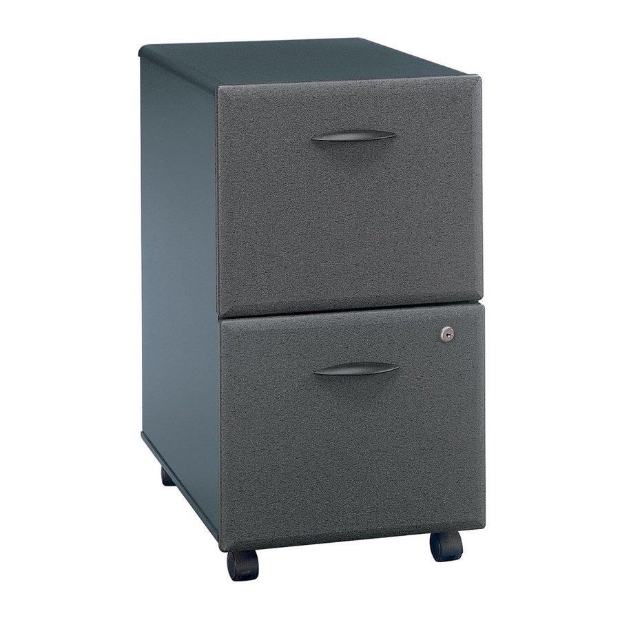 Bush Business Furniture Slate/White Spectrum Paper 2-Drawer File Cabinet