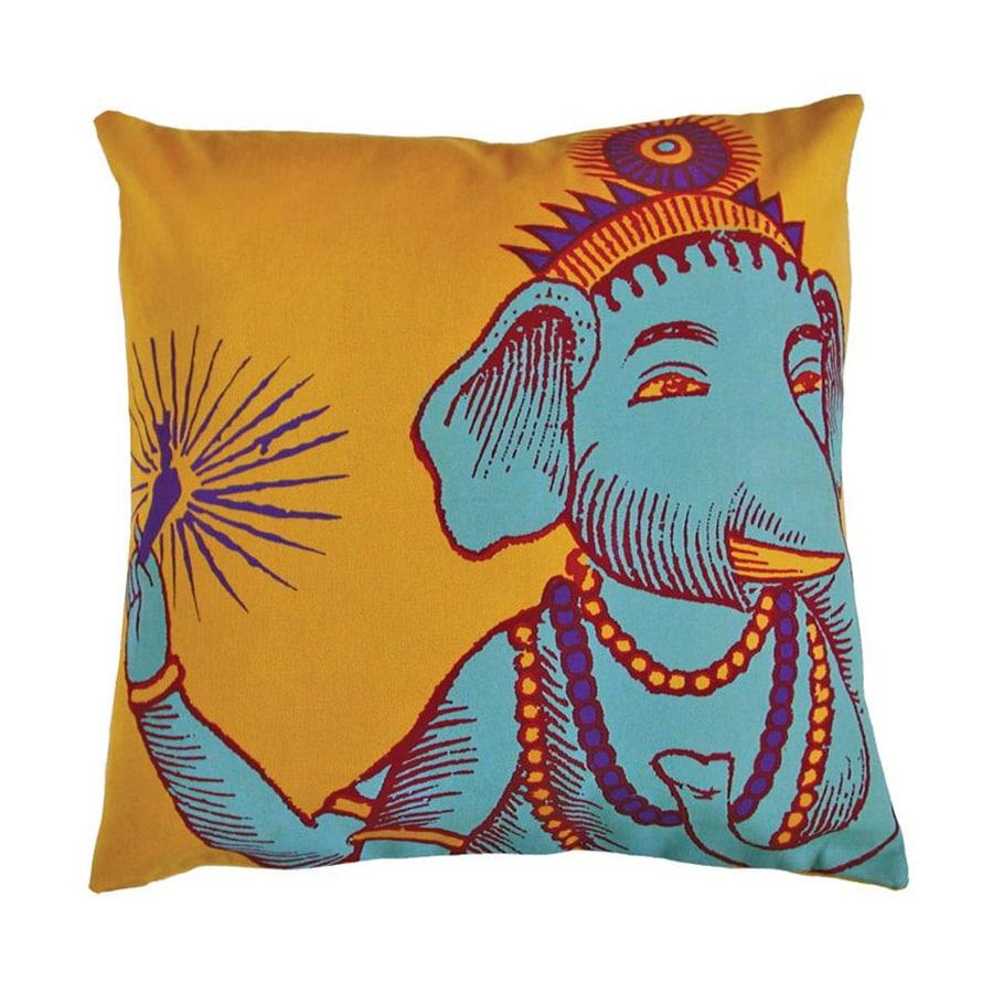 Rhadi by Koko 22-in W x 22-in L Yellow Square Indoor Decorative Pillow