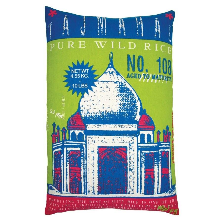 Rhadi by Koko 20-in W x 13-in L Lime Rectangular Indoor Decorative Pillow