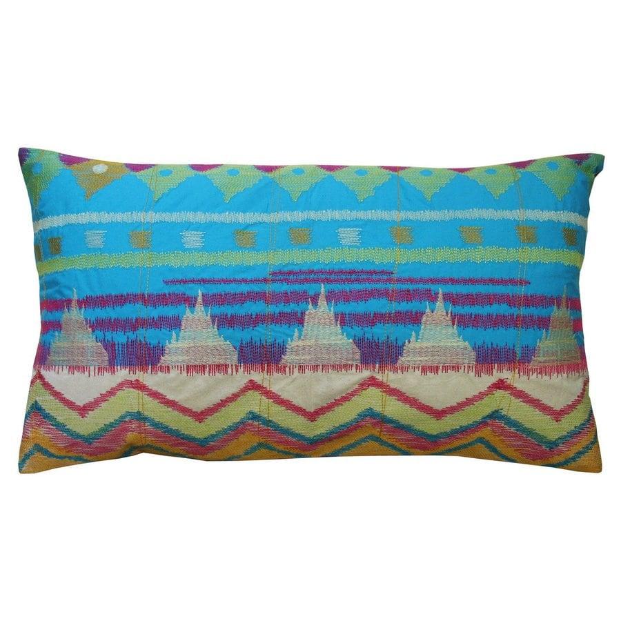 Rhadi by Koko 27-in W x 15-in L Green/Pink/Blue Indoor Decorative Pillow