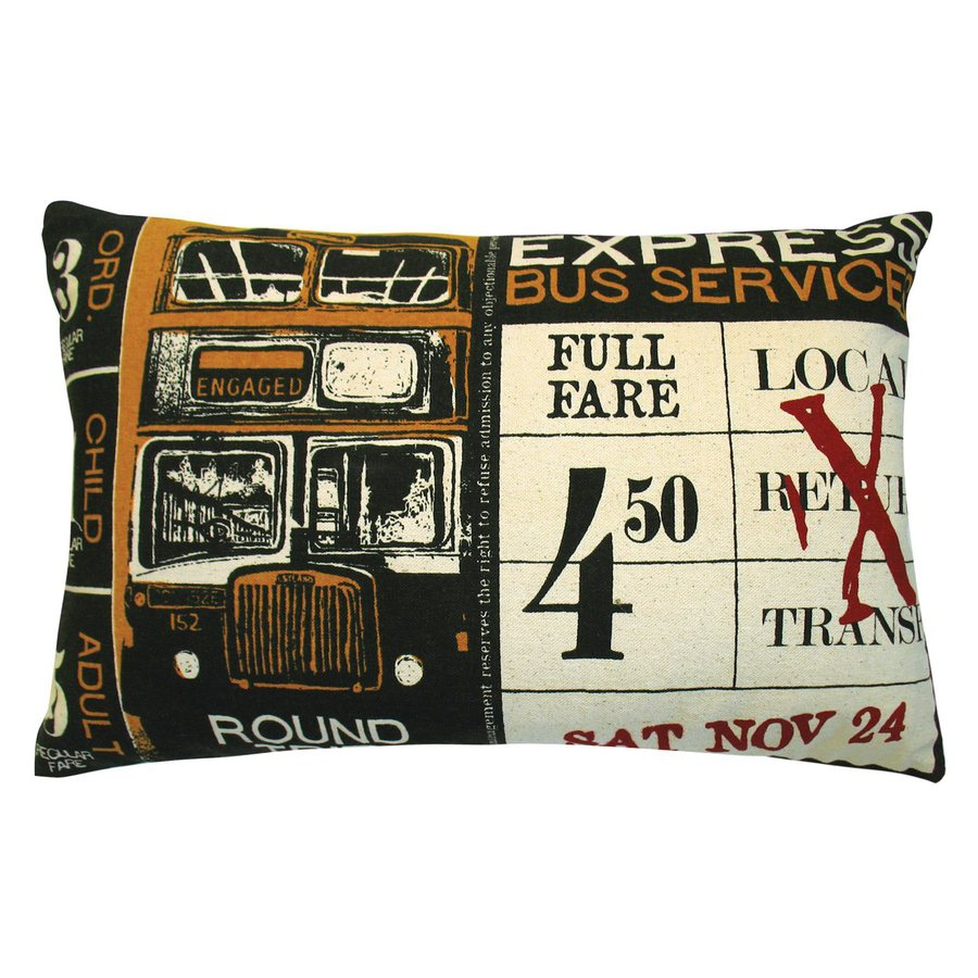 Rhadi by Koko 20-in W x 13-in L Brown/Red Rectangular Indoor Decorative Pillow