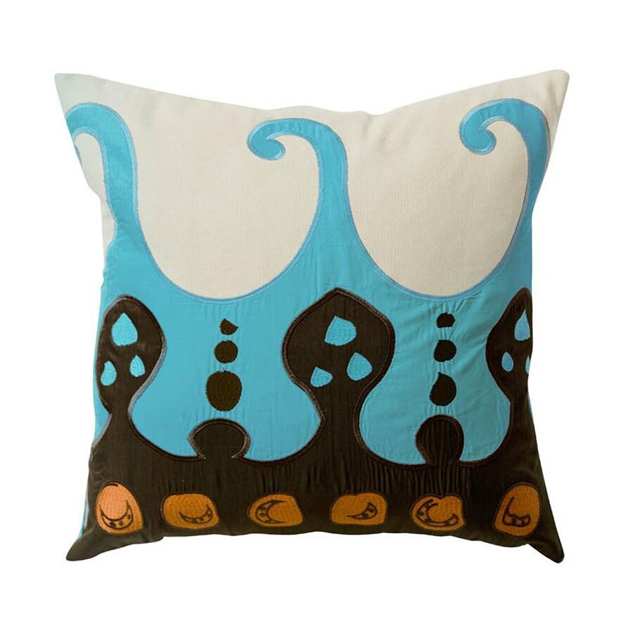 Rhadi by Koko 22-in W x 22-in L Blue Square Indoor Decorative Pillow