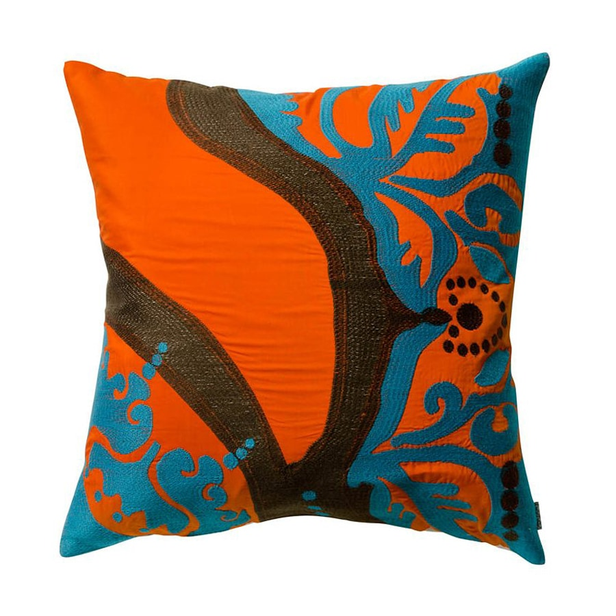 Rhadi by Koko 18-in W x 18-in L Orange Indoor Decorative Pillow