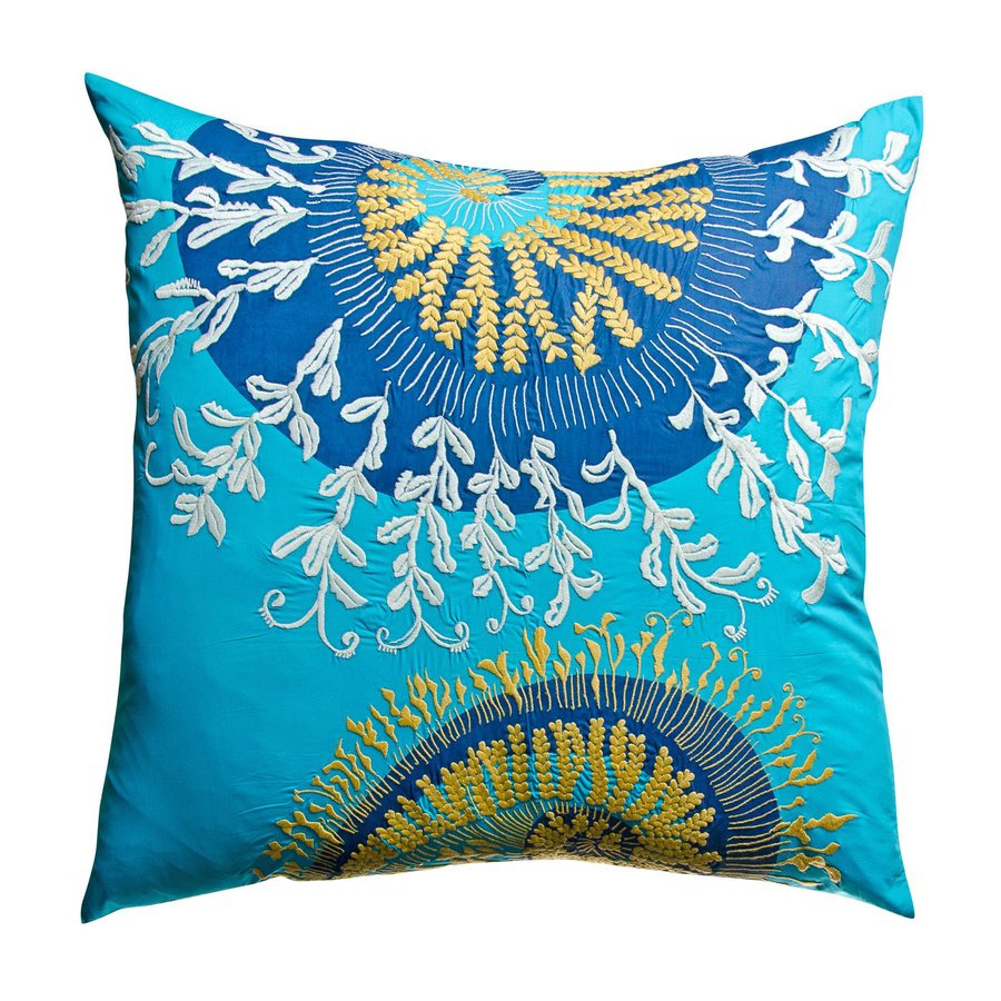 Rhadi by Koko Blue/Mustard Euro Pillow Case