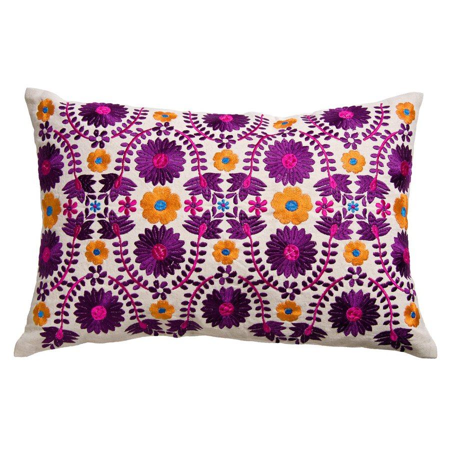 Rhadi by Koko 20-in W x 13-in L Orange/Purple Rectangular Indoor Decorative Pillow
