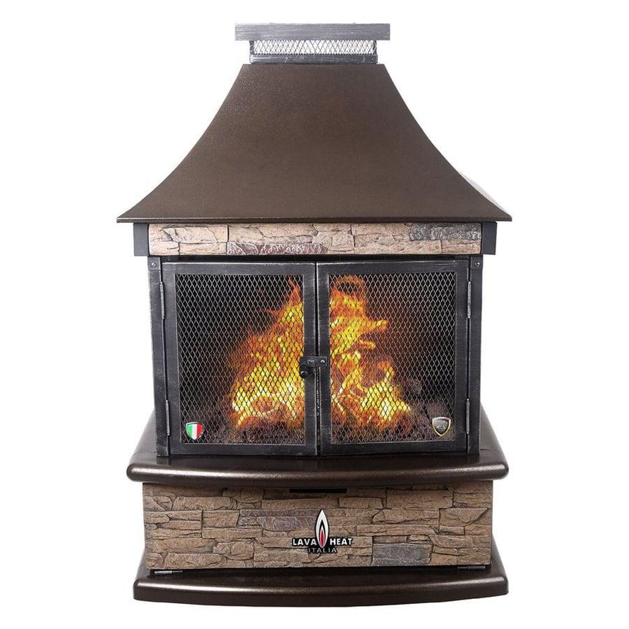 Shop Lava Heat Italia 30 000 Btu Heritage Bronze Steel Outdoor Liquid Propane Fireplace At
