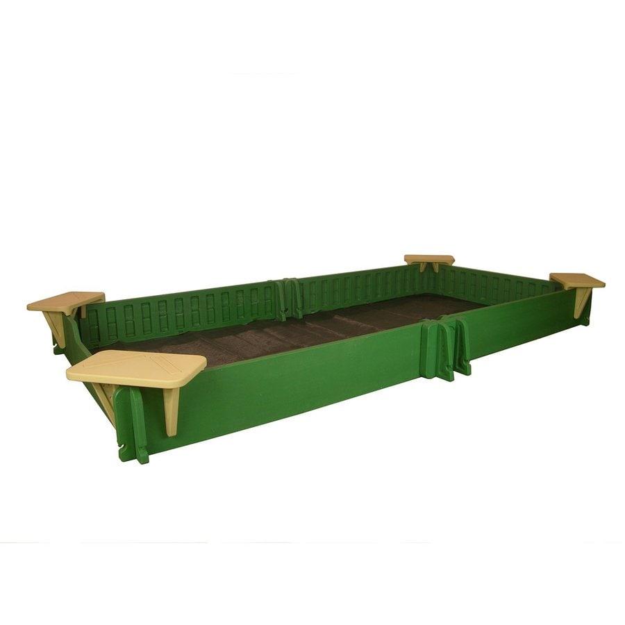 Sandlock 118-in x 59-in Green Rectangular Plastic Sandbox