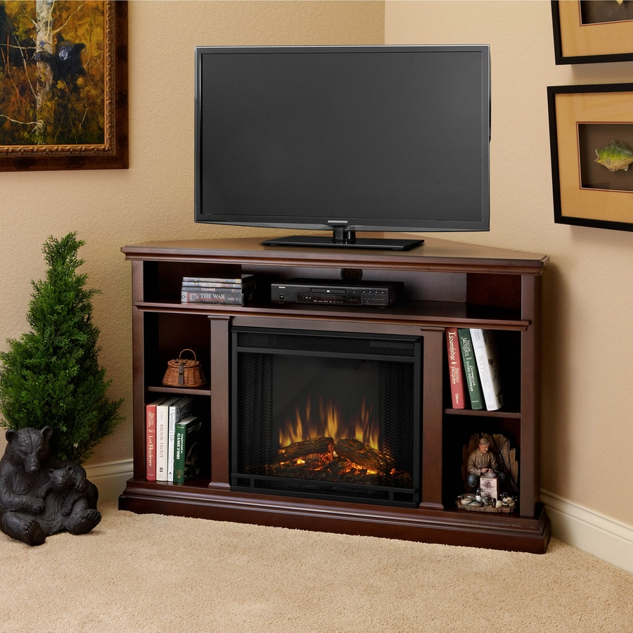 Real Flame 50 75 In W Dark Espresso Led Electric Fireplace