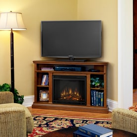 real flame 5075in w 4780btu oak wood corner led electric fireplace with