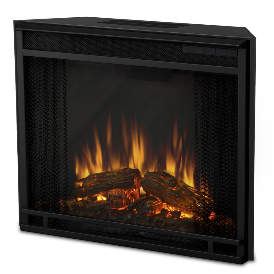 Real Flame 23 65 In Black Electric Fireplace Insert At Lowes Com