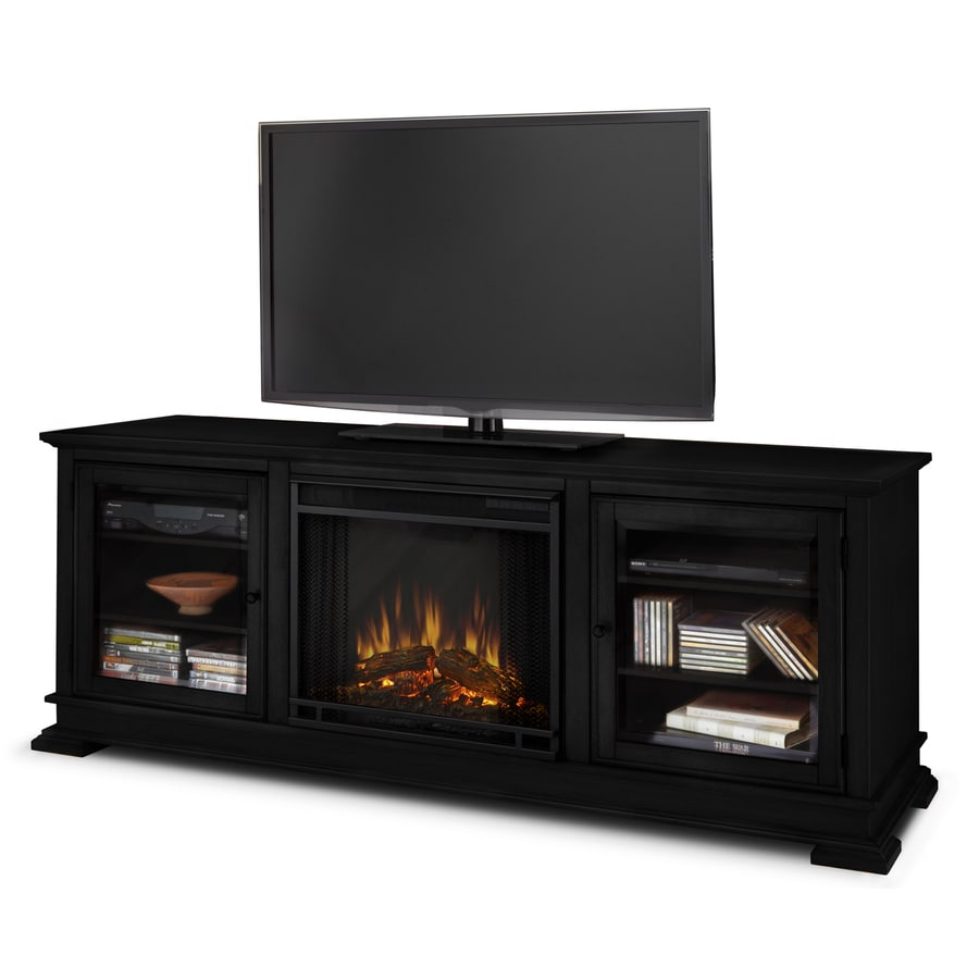 Shop Real Flame W 4780 Btu Black Wood Led Electric Fireplace With Thermostat And Remote