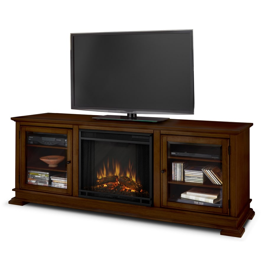 Shop Real Flame 67.75-in W 4780-BTU Espresso Wood LED Electric Fireplace with Thermostat and ...