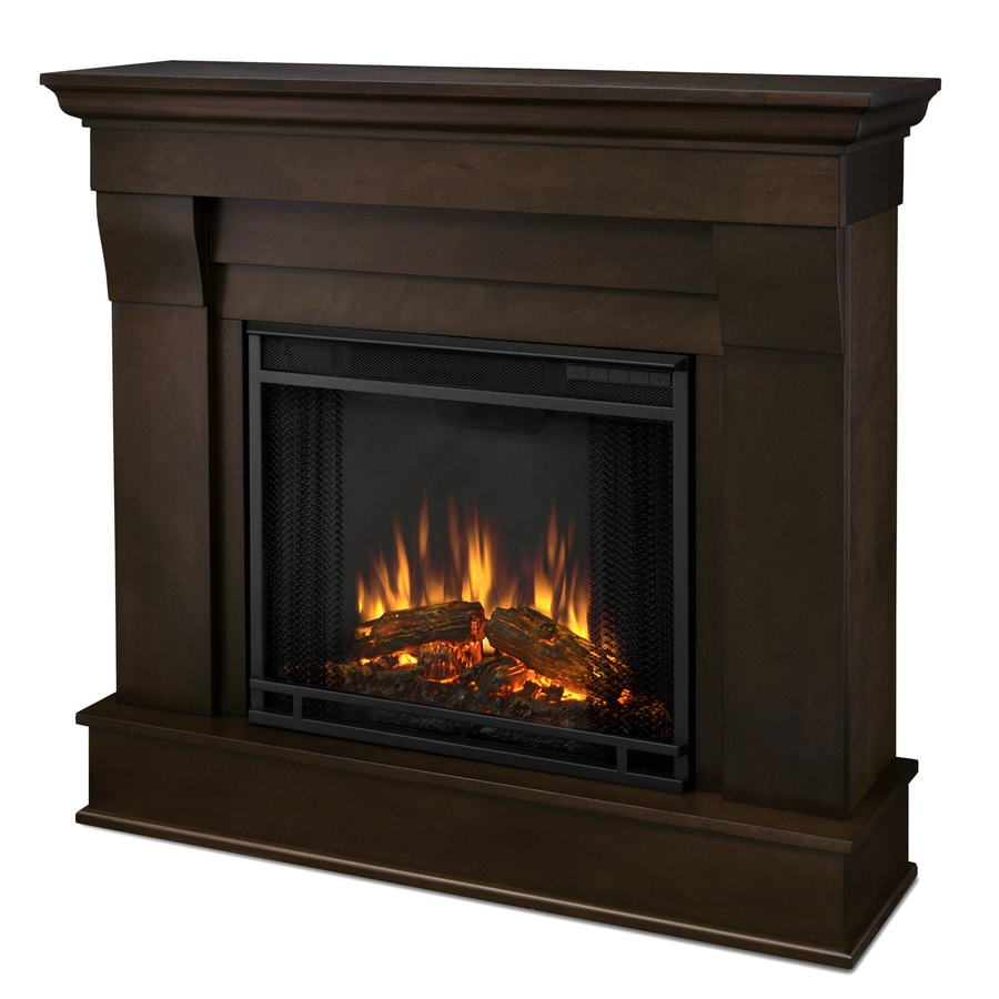 Real Flame 40.9-in W 4780-BTU Dark Walnut Wood LED Electric Fireplace with Thermostat and Remote Control