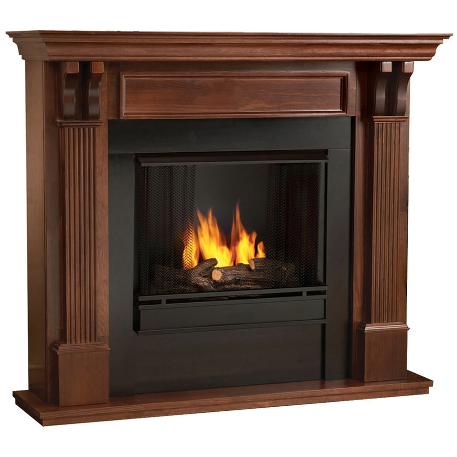 shop real flame 48 in gel fuel fireplace at