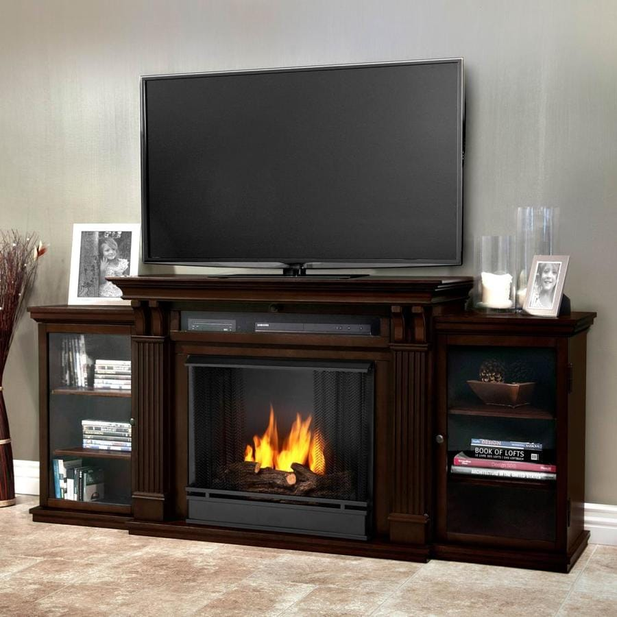 shop real flame 67 in gel fuel fireplace at. Black Bedroom Furniture Sets. Home Design Ideas