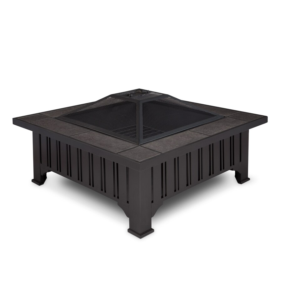 Real Flame 33.6-in W Black Steel Wood-Burning Fire Pit