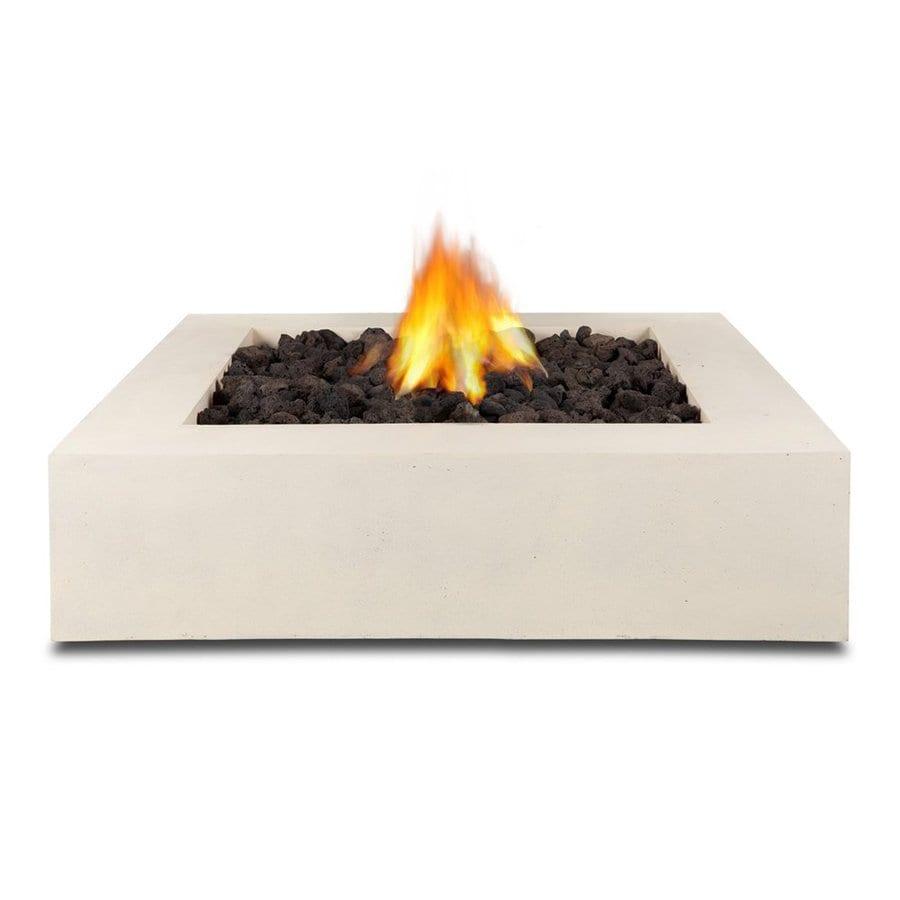 Real Flame 42.25-in W 65000-BTU Antique White Concrete Liquid Propane Fire Pit