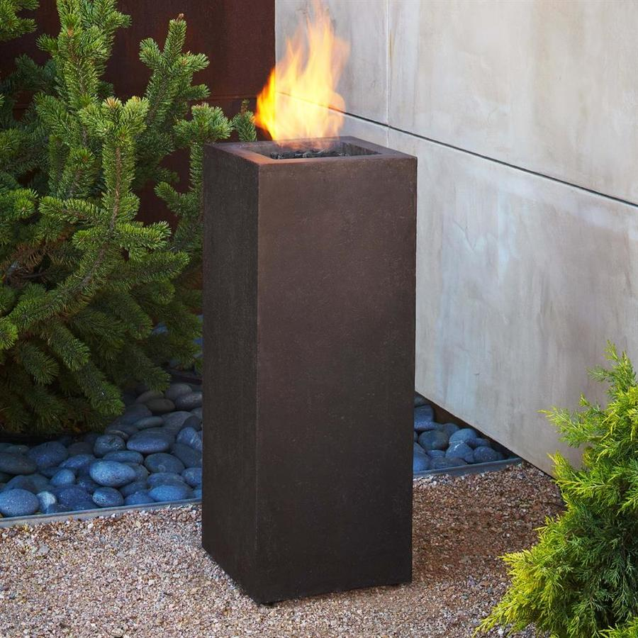 Real Flame 13.25-in W 10000-BTU Kodiak Brown Concrete Liquid Propane Fire Column