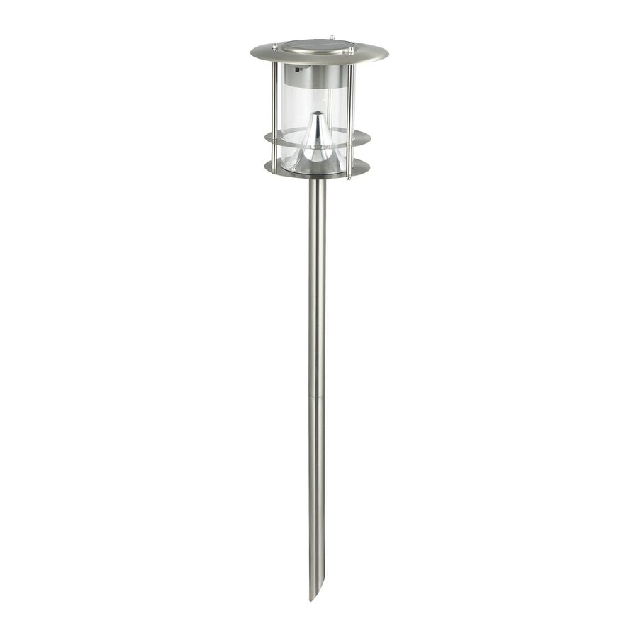 BTR Brushed Stainless Steel Solar LED Path Light