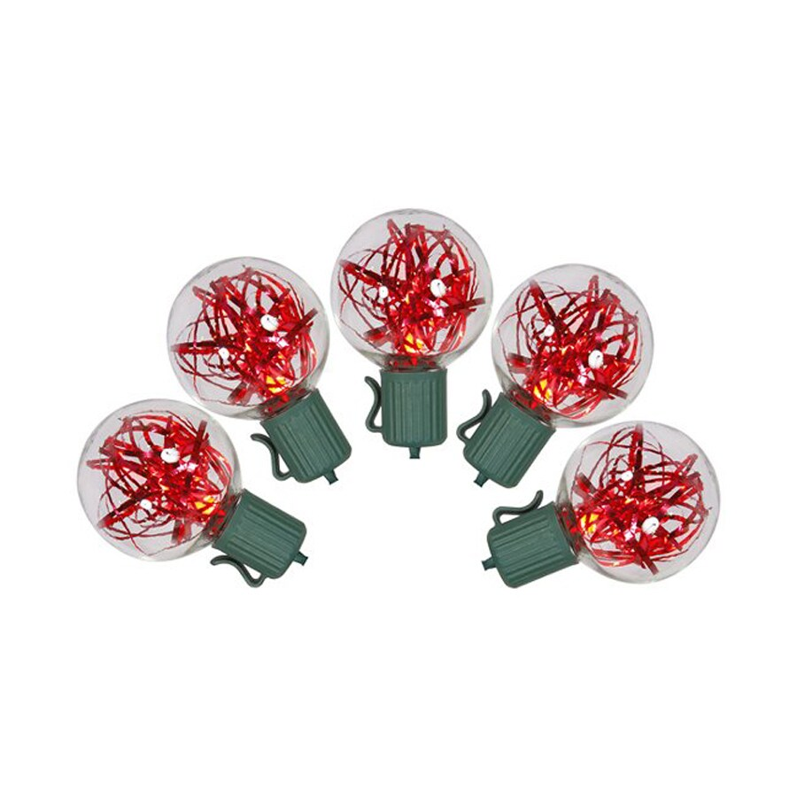 Northlight 25-Count Constant Red G40 LED Plug-in Indoor/Outdoor Christmas String Lights